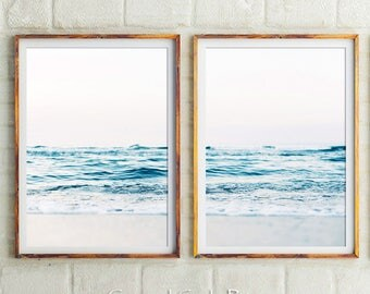 The original Beach Photography Set Of 2 Prints,Coastal, Beach Print,Ocean Print,Beach Decor,Beach Wall Art,Sea Prints,Ocean Waves,Art Prints