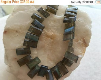 Exclusive Quality Labradorite Cut Baugette Beads  5x10 mm approx , 8 inch strand