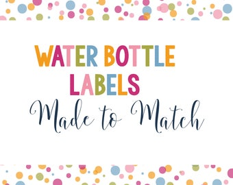 Made To Match- Water Bottle Labels- Set of 12