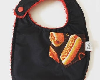 Baby bib reversible Pocket / p Collection' little Eater