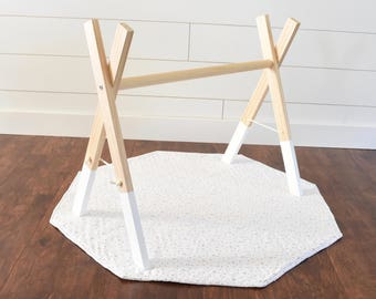 Baby Activity Gym - Wooden Baby Gym - Baby Gym - Infant Gym