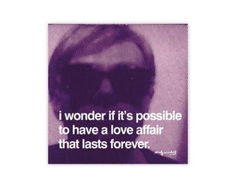 Andy Warhol Love Affair