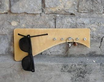 Key holder, key rack, key holder for wall, wooden key box, key hanging hook, housewarming, entryway déco, keyholder, sunglasses holder