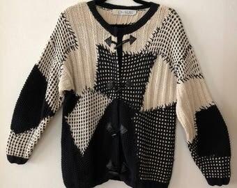 Vintage 1990s Oversized Knit Sweater * 90s Sweater * Size Medium