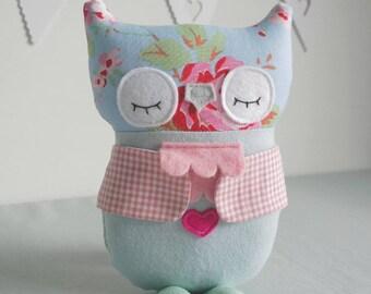 PERSONALISED Baby Children's CATH KIDSTON fabric Soft Owl Handmadee