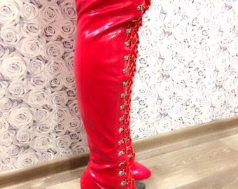 Stripper Boots, Pole Dance, Exotic Dancer, Red Boots, Stripper Shoes, High heels, Sexy Boots, Boots, Pole Dance Shoes, Sexy, In One Size