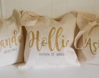Bridesmaid Tote Bag - Bridesmaid Gift - Bachelorette Bag - Wedding Gift - Wedding Tote - Bridal Tote