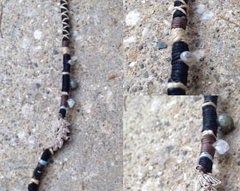 Tribal Stoned••Leather Bound Charm Hippie Dread••14""