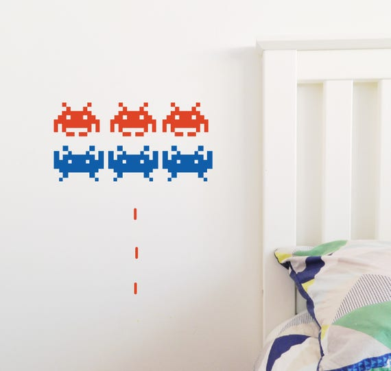 Space Invader Wall Sticker Removable Decal Made In Australia