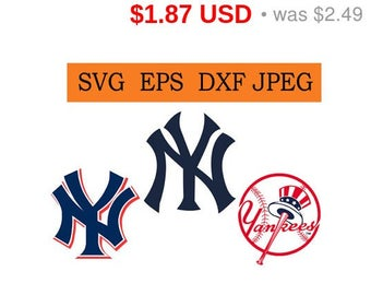 Sale 25%  -  New York Yankees logo in SVG / Eps / Dxf / Jpg files INSTANT DOWNLOAD!