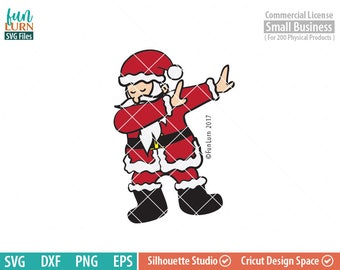 Dabbing Santa SVG, Dab Santa, Dabbing around the Christmas Tree SVG, svg png dxf eps ,Cameo file, Cricut file