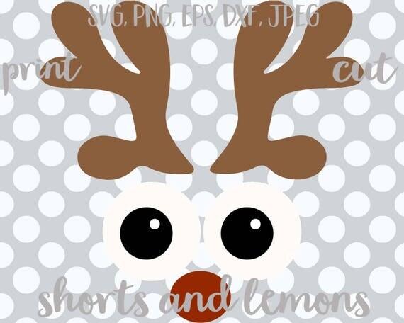 Reindeer Face Svg Christmas Funny