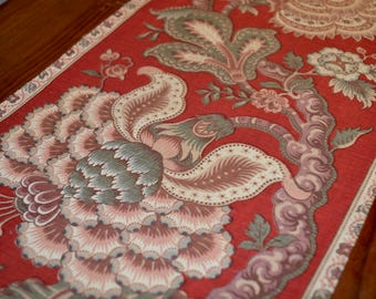 Vintage Red Traditional  Pattern Table Runner 80 inches
