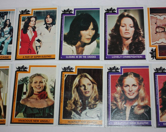 Vintage Lot of 10 Charlie's Angels Trading Cards 1977