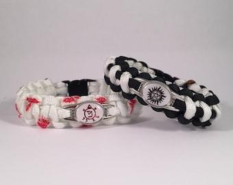 Supernatural Symbols Paracord Bracelet