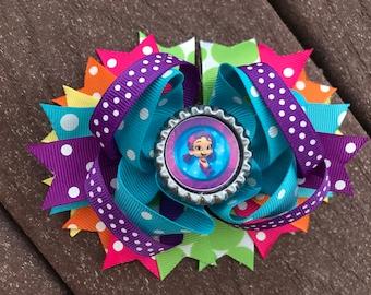 Bubble Guppies Hair Bow Bubble Guppies Bow Bubble Guppies Clip Bubble Guppies Birthday Hair Bow Clip