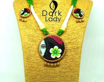 Handmade Terracotta Jewellery Set (The Woman)