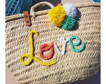 "Beach basket ""Peace & Love"""