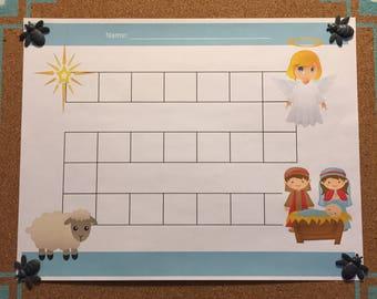 Nativity Reward/Sticker Chart PDF