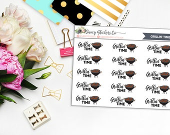 Grillin' Time Planner Stickers