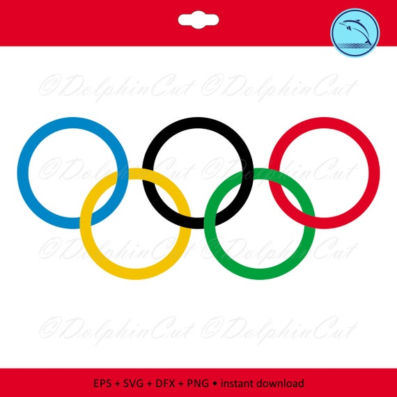 Digital Clipart Olympic Rings Silhouettes For Cutting