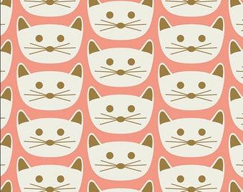 KNIT Fabric, Cat Nap Pink, Art Gallery Knits, Cotton Spandex Knit, Jersey Knit Fabric, K-78406