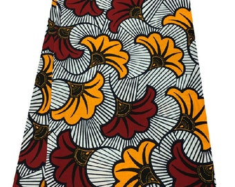 Red and Yellow Ankara Print Fabric
