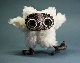 Petite owl gift hedwig owl figurine owl décor collectable toy teacher gifts art doll handmade interior toys stylish unusual gifts