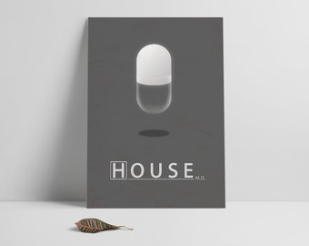 House,Poster Print,House MD movie poster printable,Minimalistic film poster,Printables,Instant download,Alternative poster,Movie poster