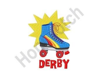 Roller Derby - Machine Embroidery Design - 4 X 4, Roller Skating, Roller Blades, Sport, Roller Rink