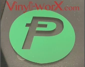 "3"" Potcoin POT cryptocurrency DARGK GREEN vinyl decal sticker crypto blockchain"