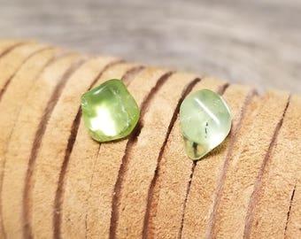 Raw Peridot Earrings