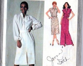 GOODBYE SUMMER SALE Vintage 70's Dress Pattern: Simplicity 9224; size 14, bust 36; Disco! Secretary! So versatile! c. 1979
