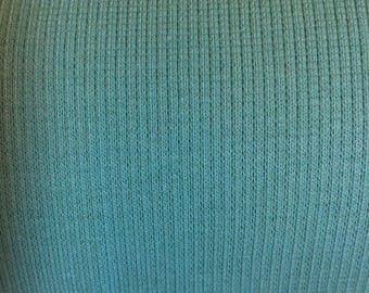 Closeout! Birch Organic Ribbed Knit Fabric - Pool Mint Green 1/2 Yard