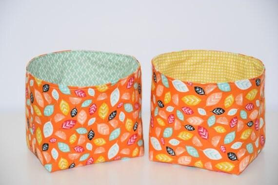 panier de rangement vide poche tissu coton rigide motifs. Black Bedroom Furniture Sets. Home Design Ideas