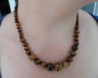 True Tiger eye stone necklace