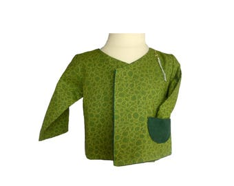 Wrap-reversible cotton Green