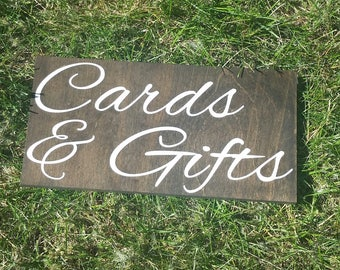 Cards & Gifts Sign - Rustic Wedding Decor - Garden Wedding Decor - Gift Table Decor