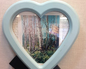 Blue Heart-shaped Picture Frame