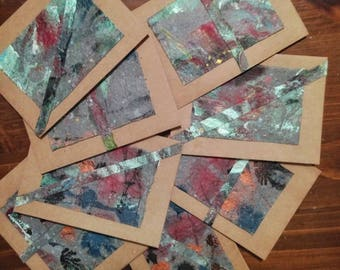 3.5 in x 4 7/8 in Marbled Paper Note Cards ( Qty 8)