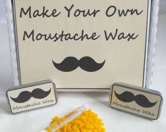 Make your own mustache wax kit