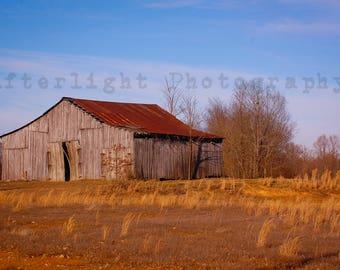 Country Barn Photography, Barn Photography, Weathered Barn, Country Decor, Rustic Photography