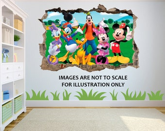 Mickey Mouse Clubhouse 3D Effect Graphic Wall Vinyl Sticker Decal