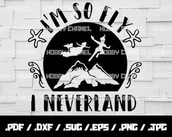 I'm so fly i neverland svg, peter pan svg, tinkerbell svg, girls svg, Silhouette studio, Sure Cuts A Lot, instant download