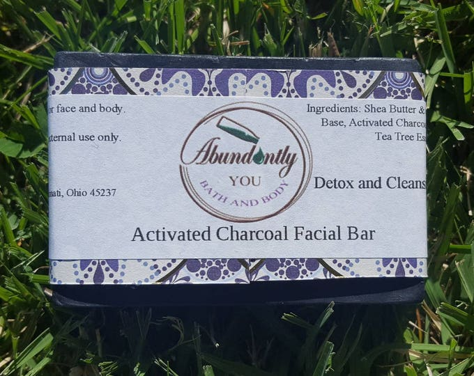 Activated Charcoal Facial Cleansing Soap Bar