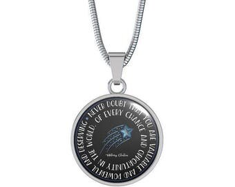 Hillary Clinton Quote Necklace Empowering, Empowerment for Women and Girls, Gift for Daughter, Woman Power, Girl Power