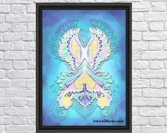 Reborn in the Light, Digital Print, Bohemian, INSTANT DOWNLOAD, Digital Download, Gallah Wall Art Digital