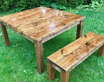 Farm Table, Farm House Table, Rustic Table, Square Table, Square Farm Table, Farmhouse Table, Long Farm Table, Distressed Table, Farm Decor