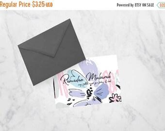RAMADAN SALE Ramadan Mubarak Printable Greeting Card for Muslims, Ramadan Kareem, Happy Ramdan Floral Blossom, Pink and Floral Card for Musl