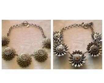 On Sale Vintage 80's Ann Taylor Flower Necklace